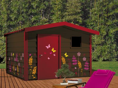 Photo decoration abri de jardin personnalis - Deco abri de jardin ...