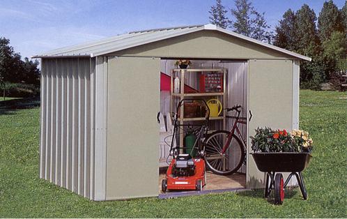 Photo abri de jardin abri de jardin en m tal avec portes for Portes de jardin en metal