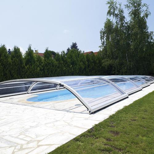 Abri de piscine haut ou bas ooreka for Abri de piscine desjoyaux