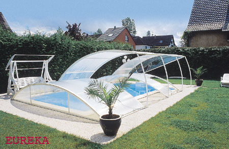 Abri de piscine relevable principe crit res de choix for Bequille abri piscine
