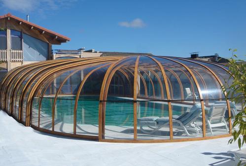 Photo guide abri de piscine bois for Piscine bois comparatif