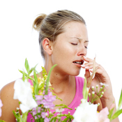 Allergie mal de gorge