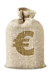 Sac argent symbole euros