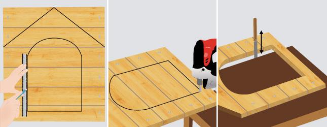 fabriquer une niche chenil. Black Bedroom Furniture Sets. Home Design Ideas