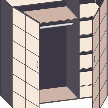 armoire pour tout type de rangement ooreka. Black Bedroom Furniture Sets. Home Design Ideas