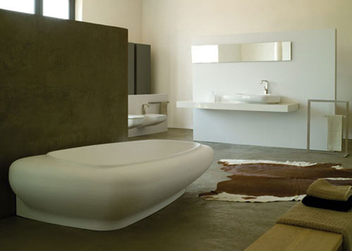 photo guide de la salle de bain baignoire de salle de bain en c ramique. Black Bedroom Furniture Sets. Home Design Ideas