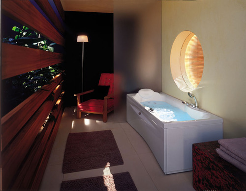 Salle de bain accessoires et meubles de salle de bain carrelage - Salle de bain rectangulaire ...