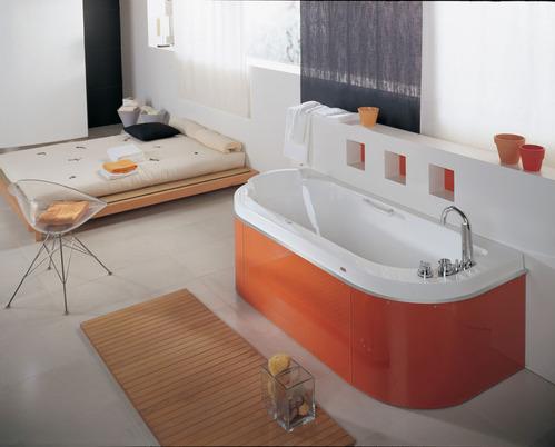 Photo guide de la salle de bain color e Baignoire coloree