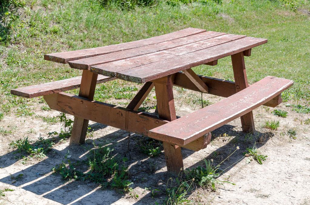 Table Picnic Bois. Affordable Table De Jardin En Bois With Table
