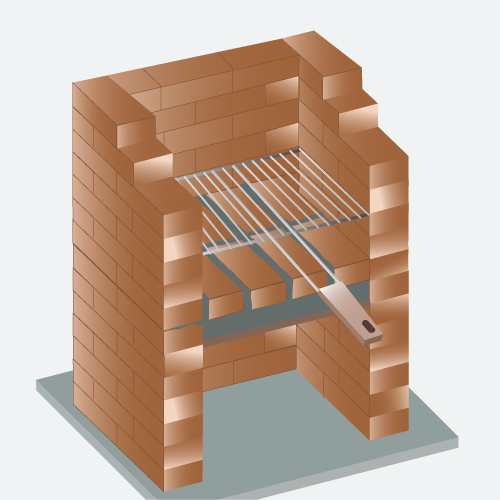 Construire un barbecue en briques réfractaires  Barbecue