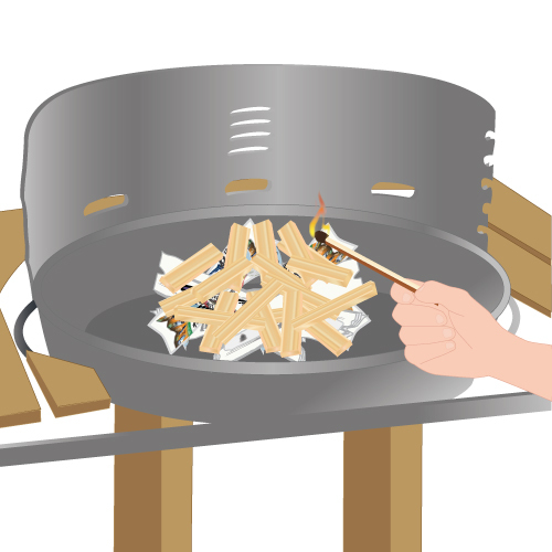 D marrer un barbecue barbecue - Comment allumer une cheminee ...
