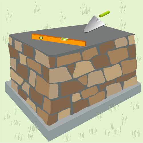 Construire un barbecue en pierre barbecue for Construire un foyer exterieur en pierre