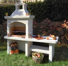 photo barbecue fixe en beton cellulaire