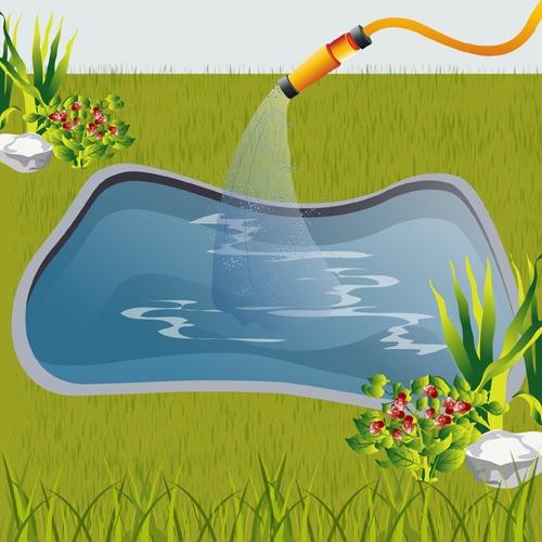 Installer un bassin prêt-à-poser