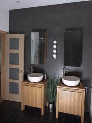 béton ciré salle de bain : types et pose - ooreka - Beton Mural Salle De Bain