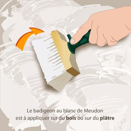 Fabriquer un badigeon au blanc de meudon peinture for Peindre sur du badigeon