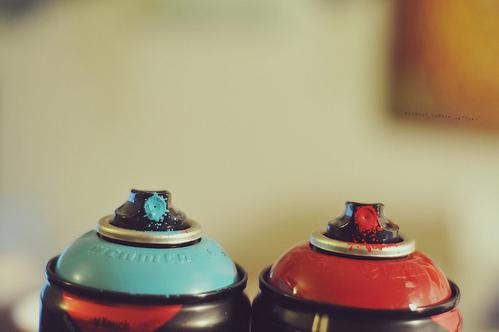 Des bombes de peinture