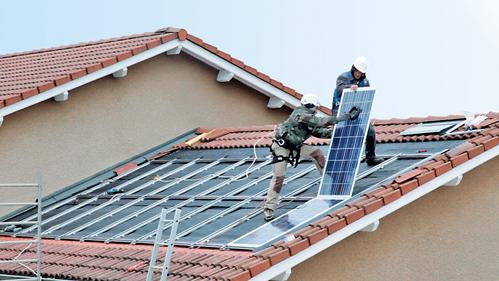 Branchement de panneaux solaires