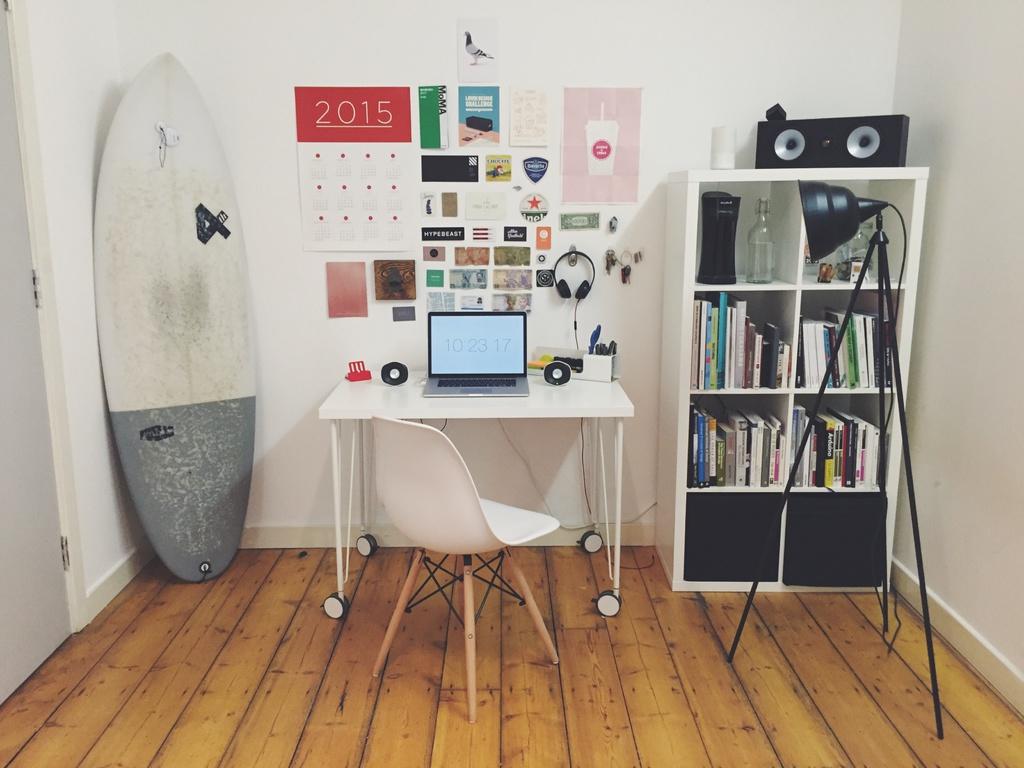 aménager un bureau dans un salon : conseils déco - ooreka