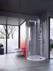 Cabine de douche combinée hammam et aromathérapie