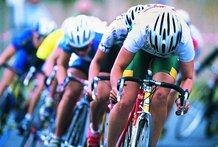 Course cyclistes velo casques