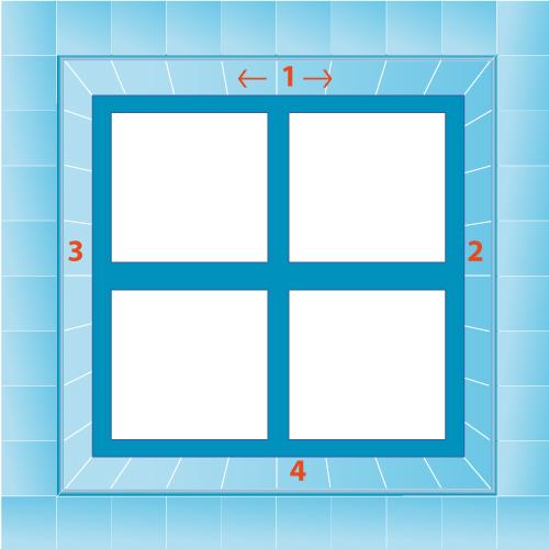 Cas 2 : Planifiez la pose à partir d'une fenêtre ou d'une porte