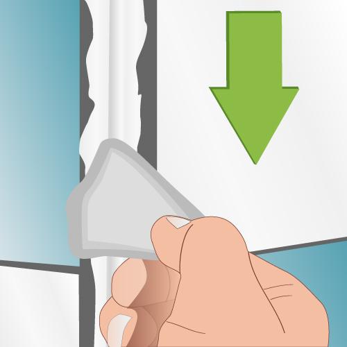 Cas 2: Lissez le joint de silicone avec une spatule spu00e9ciale
