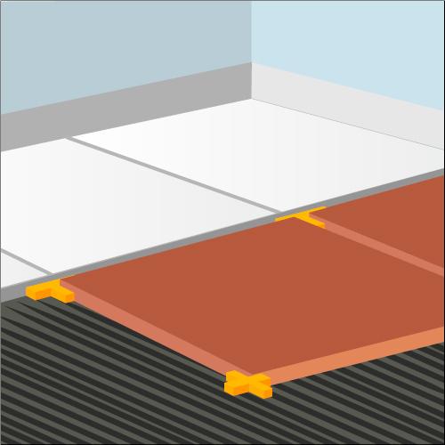 La pose du carrelage en diagonale