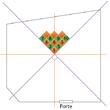 Poser des dalles de moquette en diagonale
