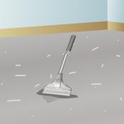 Poser de la moquette sur un sol en ciment