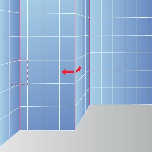 Cas 3 : Planifiez la pose à partir de l'angle d'un mur