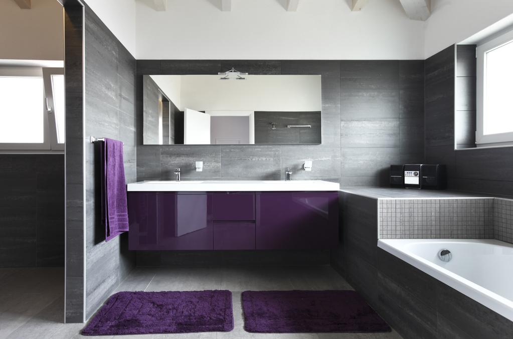 Salle De Bain Ardoise Grise: De cuisine salle bain grise gris orange.
