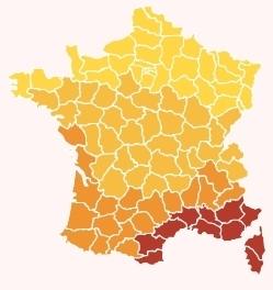 carte régionale de l'ensoleillement