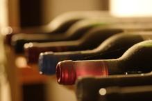 Rangée de bouteilles
