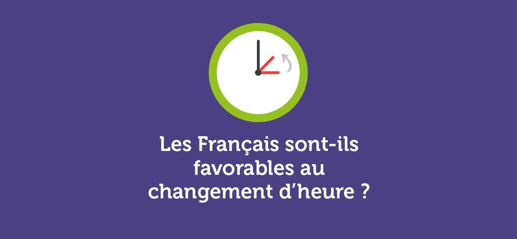 Les Français et le changement d'heure