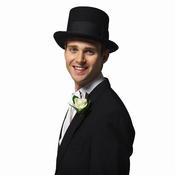Marié avec chapeau