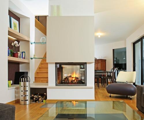 chemin e double face quel mod le de cheminee double face choisir. Black Bedroom Furniture Sets. Home Design Ideas