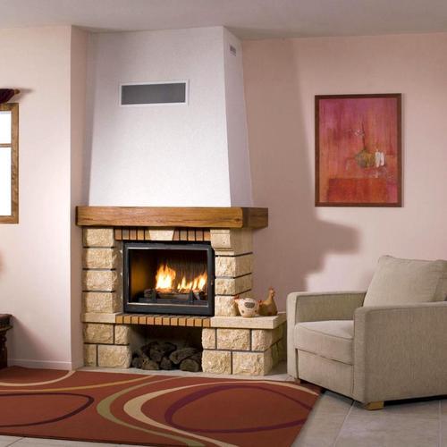cheminée classique en pierre