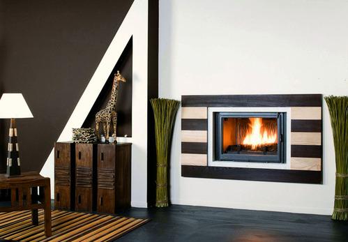photo po le chemin e chemin e encastr e en pierre. Black Bedroom Furniture Sets. Home Design Ideas