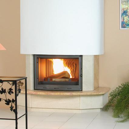 cheminée rustique en bois