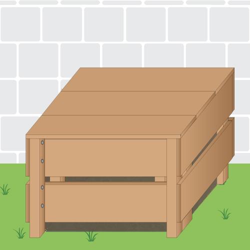 fabriquer un composteur comment faire ooreka. Black Bedroom Furniture Sets. Home Design Ideas