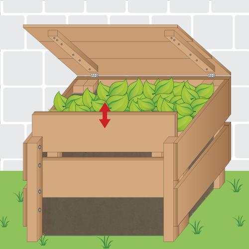 un composteur ouvert faire un composteur - Comment Fabriquer Un Composteur Exterieur