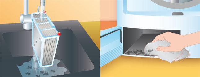 Procédez au nettoyage du condenseur