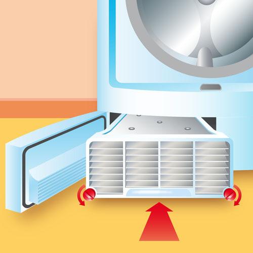 Replacez le condenseur dans le sèche linge