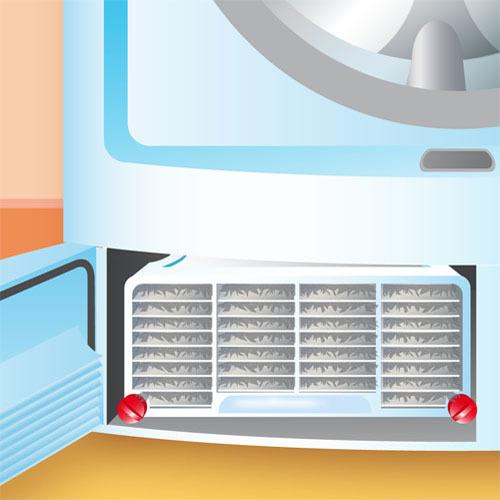 Nettoyer le condenseur d'un sèche linge