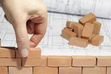 Petites briques, main, plan