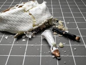 Gateau mariage ecrase au sol