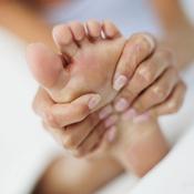 Massage crampe au pied