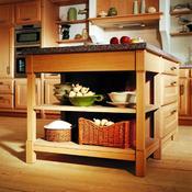 îlot centre de cuisine en pin massif. meuble cuisine ilot central