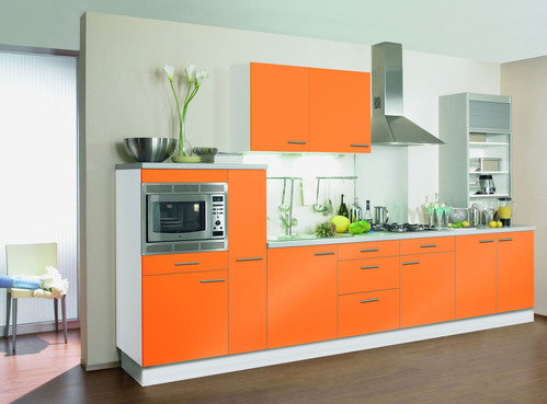 Photo le guide de la cuisine cuisine design orange love cost - Comparatif cuisine amenagee ...